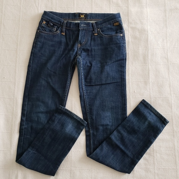 Lee Denim - LEE Womens Slim Fit Dark Wash Jeans Size 25x32 EUC